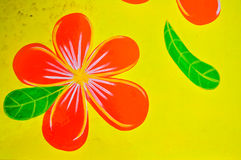 Frangipani flowers paint Royalty Free Stock Photos