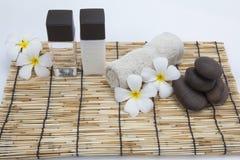 Frangipani and polished stone Stock Images