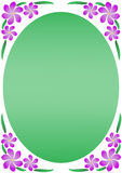 Frangipani Purple Floral Border Stock Photos
