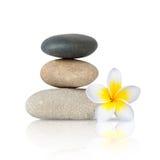 Frangipani with spa stones Royalty Free Stock Photography