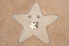 frangipani uśmiechu gwiazda Zdjęcie Stock