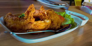 Frango frito do almoço Imagens de Stock Royalty Free