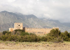 Frangokastello fort on Crete Royalty Free Stock Photography
