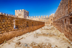 Frangokastello fortress in Crete Royalty Free Stock Photo