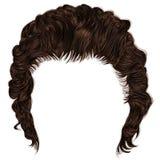 franja de moda de los pelos del hombre longitud media belleza 3d realista Imágenes de archivo libres de regalías