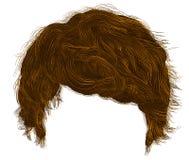 franja de moda de los pelos del hombre longitud media 3d realista Fotografía de archivo