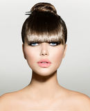 Franja. Modelo de moda Girl foto de archivo libre de regalías