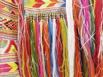 Franjas coloridas - parte do ofício feito a mão bonito Fotos de Stock Royalty Free