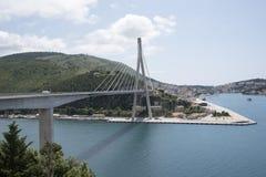 The Franjo Tudman bridge crossing Dubrovnik River in Dubrovnik Stock Photography