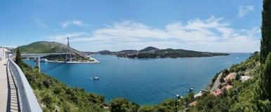 Franjo Tudman Bridge en Dubrovnik, Croacia imagen de archivo libre de regalías