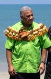 Frank Baianamarana. Fijian Prime Minister, Commodore Josaia Voreqe (Frank) Baianamara CF, MSD, OStJ, who came to power in December 2006 as a result of a military Royalty Free Stock Photos