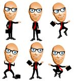 Frank the Cartoon Businessman Stock Photo