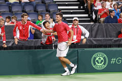 Frank Dancevic shakes hands. Stock Photography