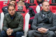Frank de Boer e Dennis Bergkamp Fotografie Stock Libere da Diritti