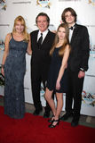Frank Dicopoulos, wife Teja, son Jaden, daughter Olivia arrives at the 2011 FAAN Los Angeles Gala Stock Photography