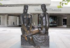 Frank Dobson sculpture LONDON PRIDE in front of National Theatre on South Bank. Stock Image