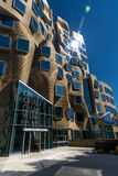 Frank Gehry Building Sun Flare Royalty Free Stock Photography