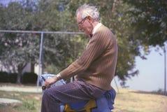 Frank Geiger farfar av fotografen Joe Sohm Arkivfoto