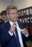 FRANK JENSEN_LORD MAYOR AT COPENHAGEN FOOD FAIR Royalty Free Stock Photography