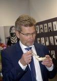 FRANK JENSEN_LORD MAYOR AT COPENHAGEN FOOD FAIR Stock Photography