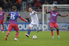 Frank Lampard in action. Frank Lampard, player of Chelsea London pictured in action during the Uefa Champions League game between his team and Steaua Bucharest ( Royalty Free Stock Images