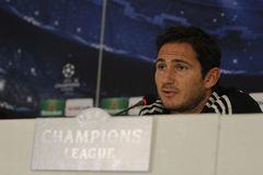 Frank Lampard av Chelsea - presskonferens Arkivfoto