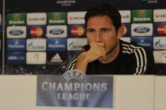 Frank Lampard av Chelsea - presskonferens Arkivbilder