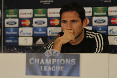 Frank Lampard of Chelsea - Press Conference. Frank Lampard, player of Chelsea London pictured during press conference held before the Champions League game Stock Images