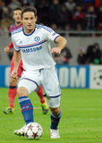 Frank Lampard of Chelsea. Chelsea's Frank Lampard pictured in action during the UEFA Champions League group E game between Steaua Bucharest and Chelsea FC, on Royalty Free Stock Image