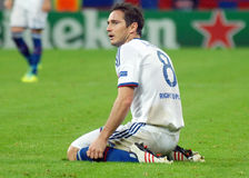Frank Lampard of Chelsea. Chelsea's Frank Lampard pictured during the UEFA Champions League group E game between Steaua Bucharest and Chelsea FC, on National Royalty Free Stock Image