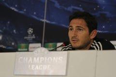 Frank Lampard de Chelsea - rueda de prensa Foto de archivo