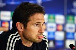 Frank Lampard durante rueda de prensa de la liga de la UEFA Cheampions Fotos de archivo
