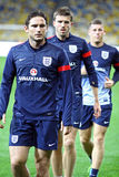 Frank Lampard, Michael Carrick and James Milner of England Stock Photography