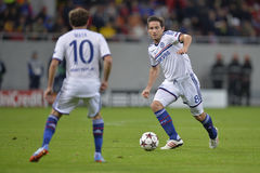 Frank Lampard. Player of Chelsea London pictured during the Uefa Champions League game between his team and Steaua Bucharest (Romania). Chelsea won the match Royalty Free Stock Images