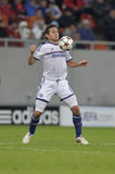 Frank Lampard. Player of Chelsea London pictured during the Uefa Champions League game between his team and Steaua Bucharest (Romania). Chelsea won the match Stock Photos