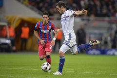 Frank Lampard shoots the ball. Frank Lampard, player of Chelsea London pictured during the Uefa Champions League game between his team and Steaua Bucharest ( Stock Images