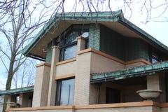 Frank Lloyd Wright ` s Dana Thomas dom, Springfield, IL Zdjęcia Royalty Free