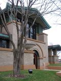 Frank Lloyd Wright`s Dana Thomas House, Springfield, IL stock images
