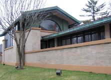 Frank Lloyd Wright`s Dana Thomas House, Springfield, IL royalty free stock photos