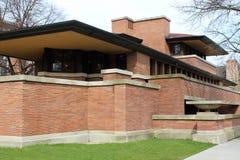 Frank Lloyd Wright ` s Robie House, Chicago royalty-vrije stock foto
