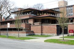 Frank Lloyd Wright`s Robie House, Chicago Royalty Free Stock Photo