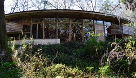 Frank Lloyd Wright Spring House, Tallahassee Florida stock foto's