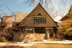 Frank Lloyd Wrights home in Oak Park, Illinois Stock Photos