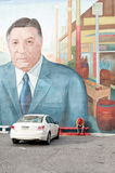 Frank Rizzo Mural in South Philly. Mural depicting Francis Lazarro Frank Rizzo, Sr. in South Philadelphia. Frank Rizzo was an American police officer and Stock Photo
