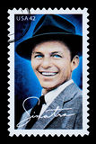 Frank Sinatra Postage Stamp. NEW YORK, USA - CIRCA 2010: A postage stamp printed in the USA showing Frank Sinatra, circa 2003 Royalty Free Stock Photography