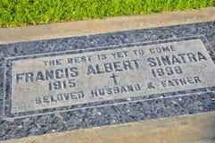 Frank Sinatra ` s Gravesite zdjęcie royalty free