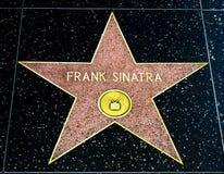 Frank Sinatra Star på Hollywood går av berömmelse royaltyfri bild