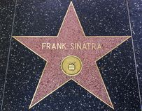 Frank Sinatra star on the Walk of Fame. HOLLYWOOD,CA - DECEMBER 19, 2013: :Frank Sinatra's star on Hollywood Walk of Fame. This star is located on Hollywood Blvd Royalty Free Stock Images