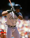 Frank Thomas Chicago White Sox. Former Chicago White Sox 1B Frank Thomas. (Image taken from color slide Royalty Free Stock Photo