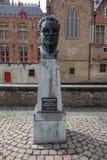 Frank Van Acker-Monument in Brügge Stockfoto